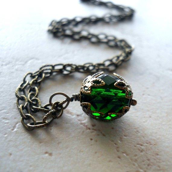 Poison green necklace.