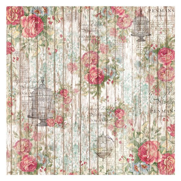 Servetel de orez is part of Rice paper decoupage - Servetel de orez, ideal pentru decorarea suporturilor din lemn, metal, sticla, textile etc  50 x 50 cm  Stamperia