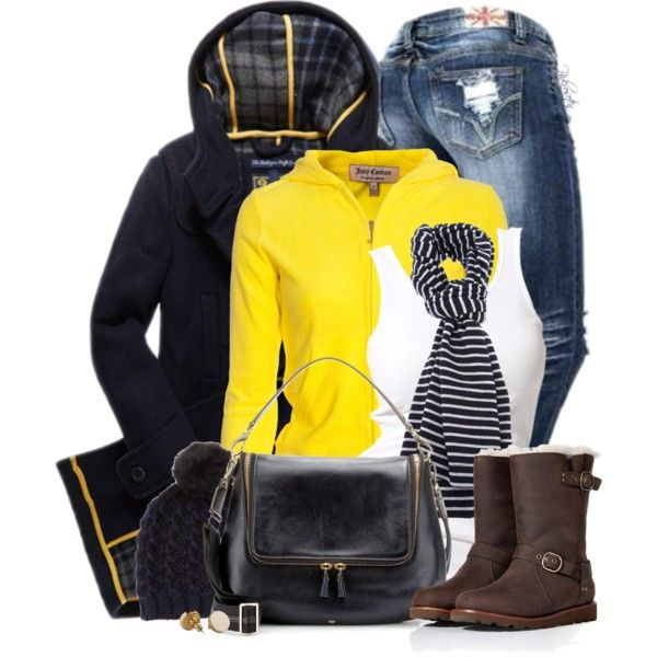 """Beanies + Boots"" by pinkroseten on Polyvore"