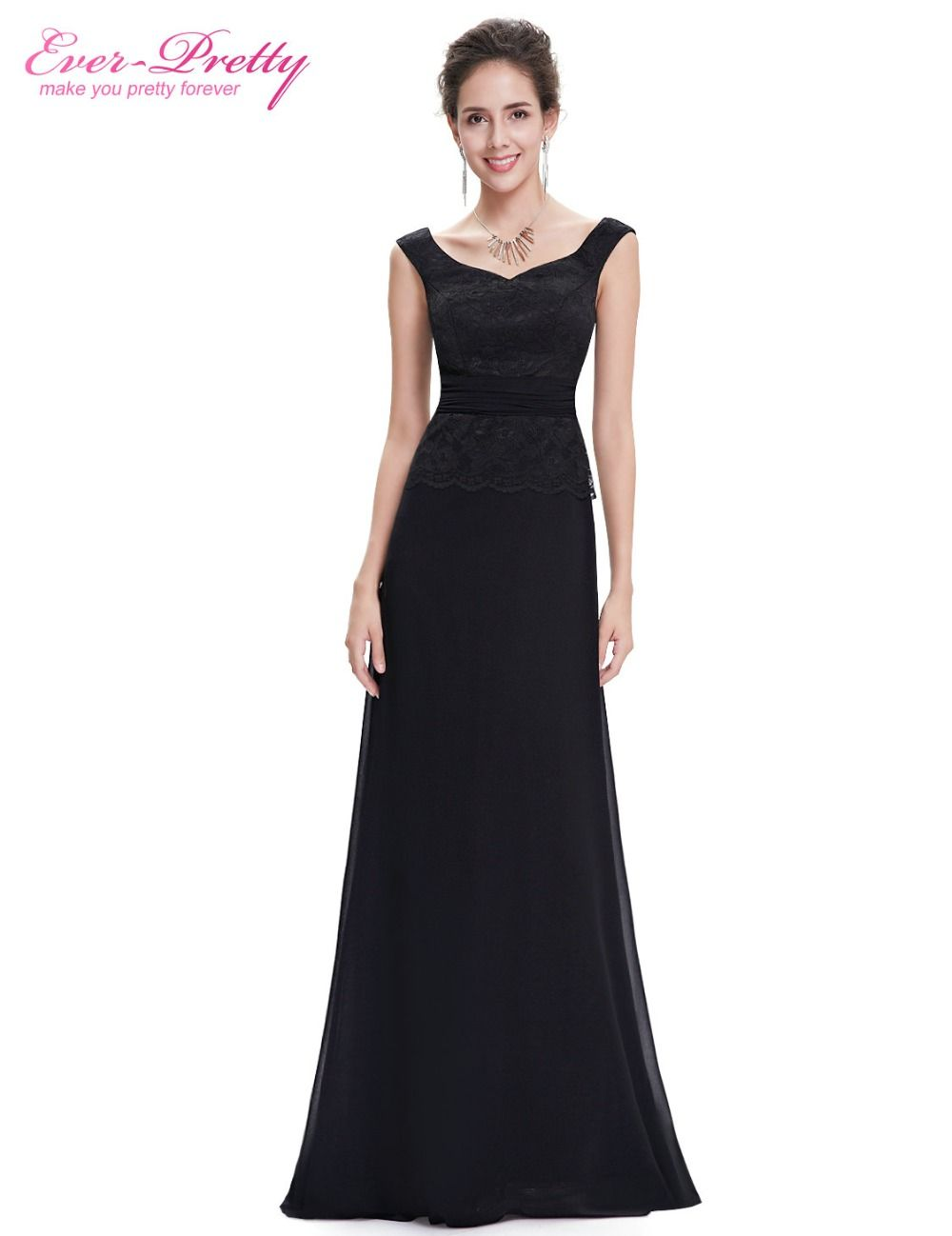 Chiffon prom dress ever pretty he elegant black sleeveless new