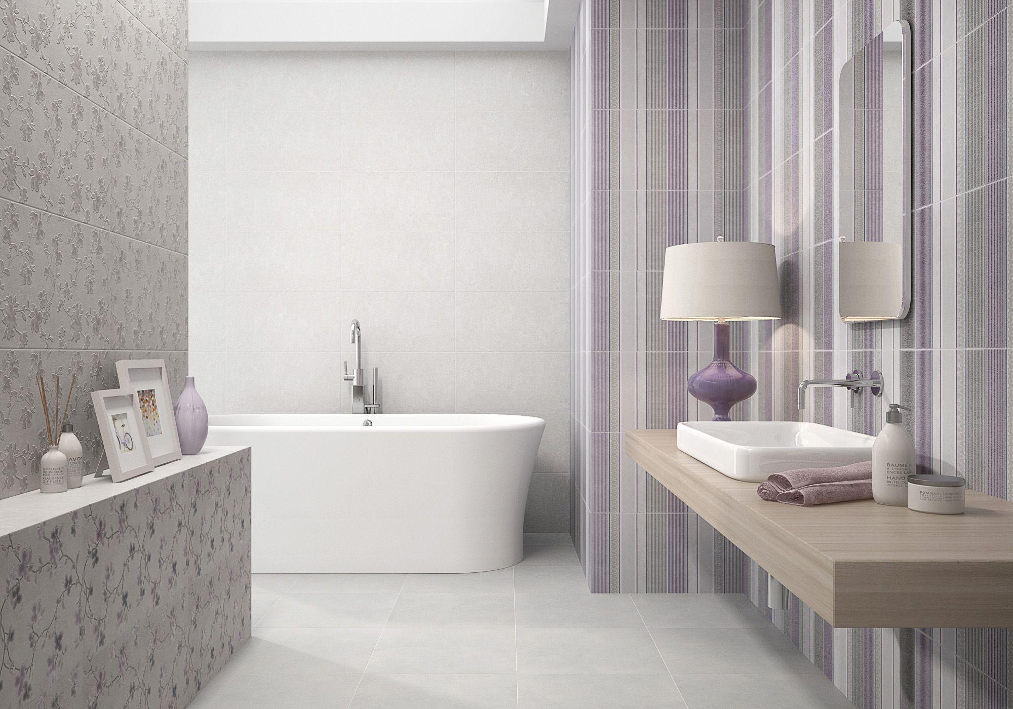 charming blue tile bathroom ideas color | Charm Malva- Grace Perla- Grace Gris- Soft Perla- Style ...