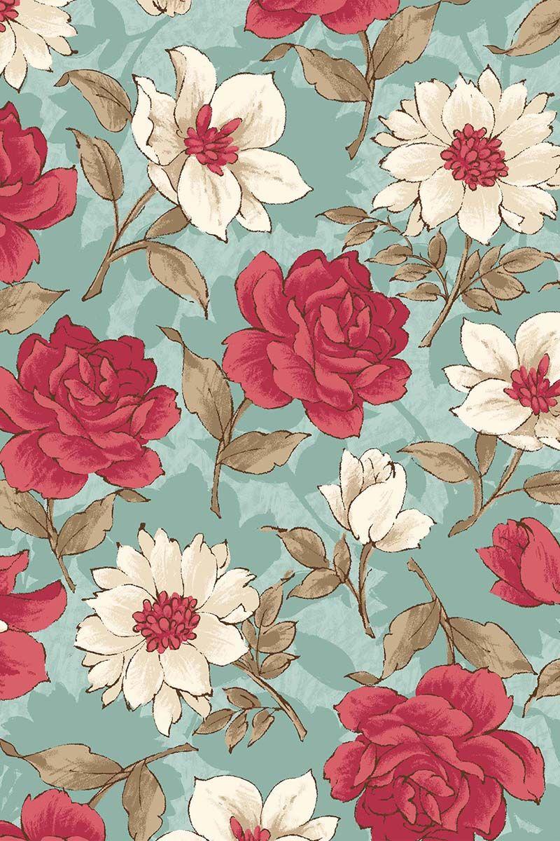Keepsake Calico Floral Fabric Pattern Floral Fabric Pattern Floral Wallpaper Flower Wallpaper