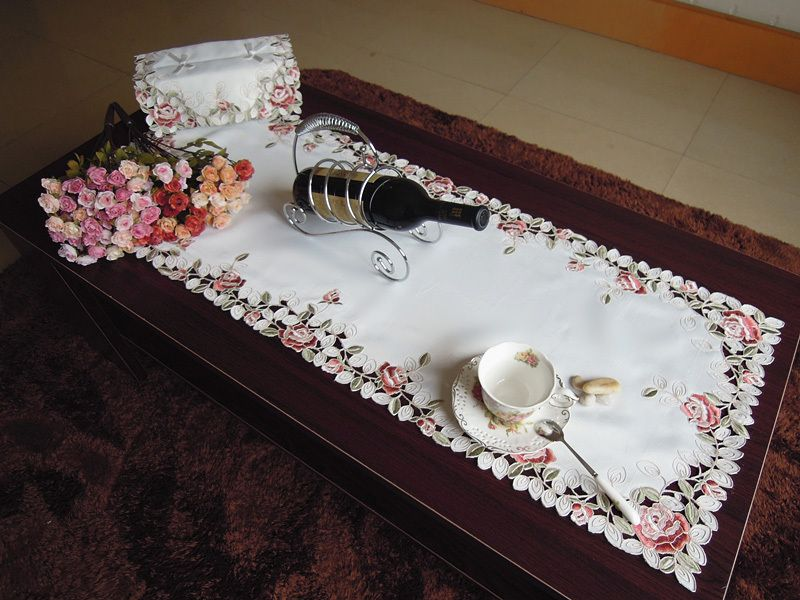 Delightful Polyester Tablecloth Coffee Table Cover Tables