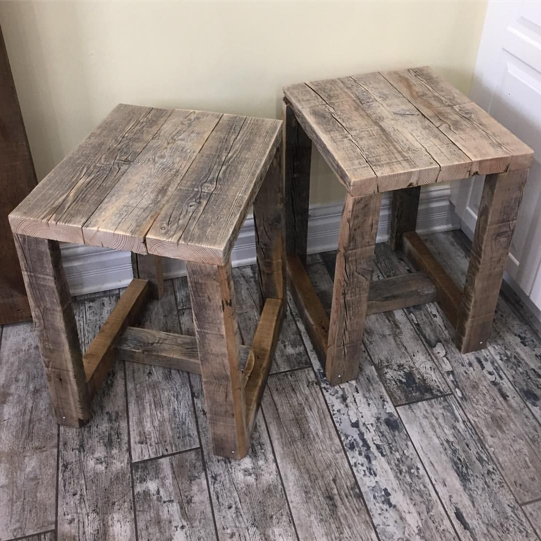 2x4 end tables made from scrap left over pieces. Boards are ...