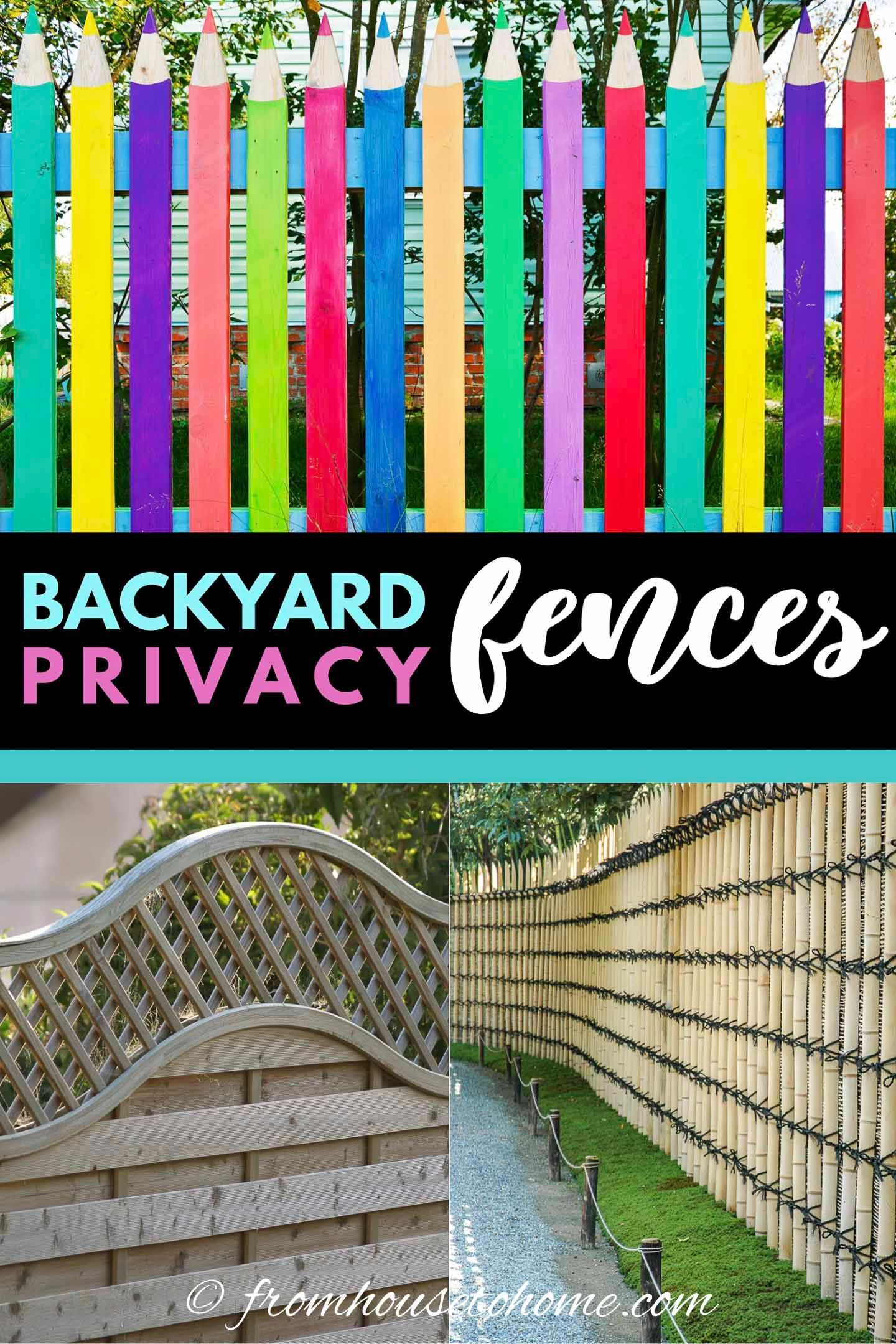 20+ Backyard Privacy Ideas For Screening Neighbors Out ...