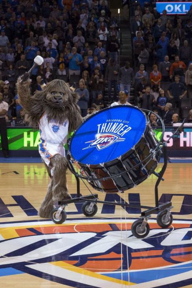 Rumble the bison oklahomacitythunder Okc thunder
