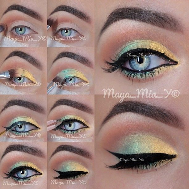 Summer Look ☀ Pictorial  Prime the lids using clean slate 360 creaseless eye primer by @tartecosmetics
