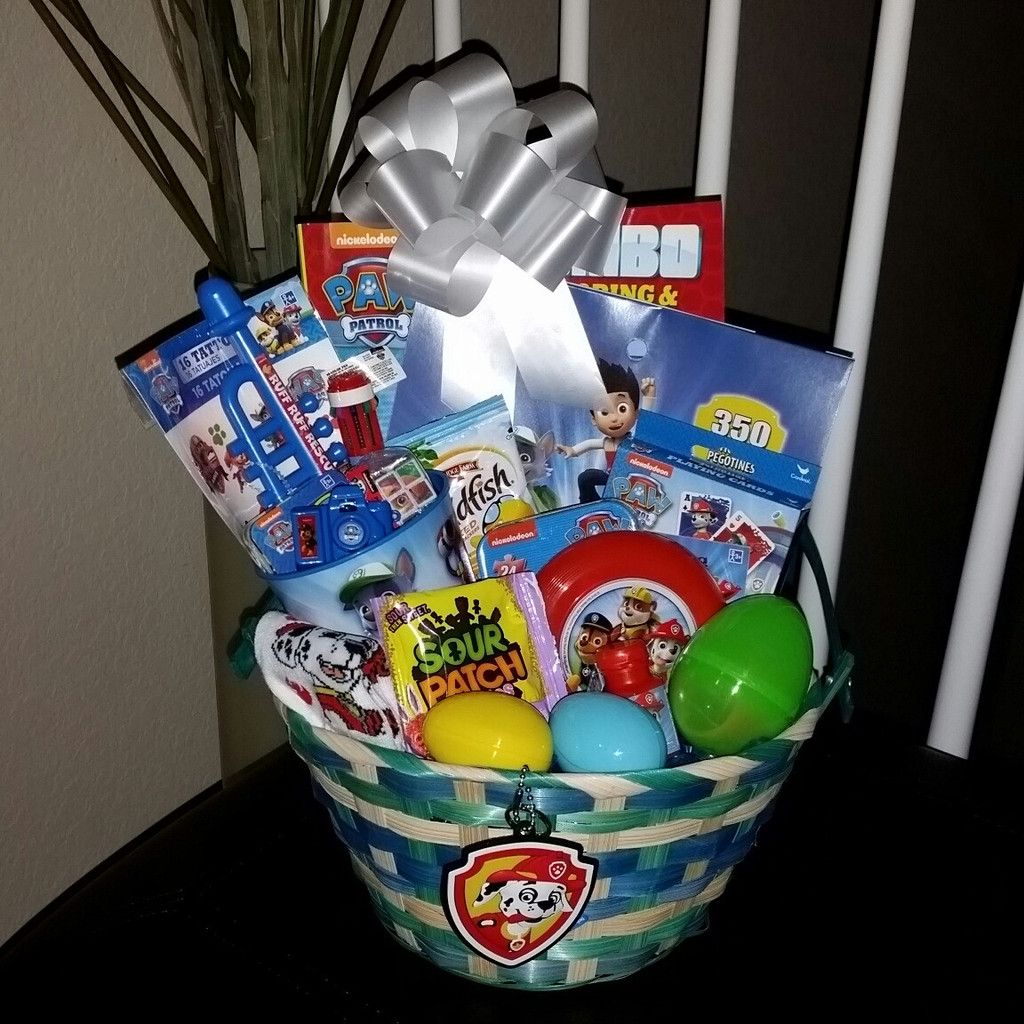 Paw patrol easter basket gift pre filled easter baskets filled give a treat this easter with a beautifully hand created gift basket for any child each easter basket is unique with the exact items shown or similar items negle Gallery