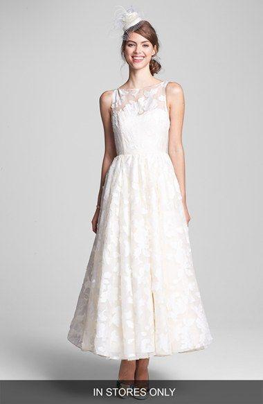 Hayley Paige 'Hepburn' Floral Applique Silk Organza Dress #wedding #nordstromwedding #weddingdress