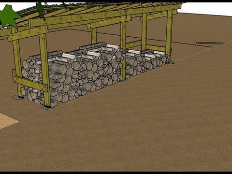 Comment construire un abri (bûcher) pour son bois de chauffage - construire son garage en bois