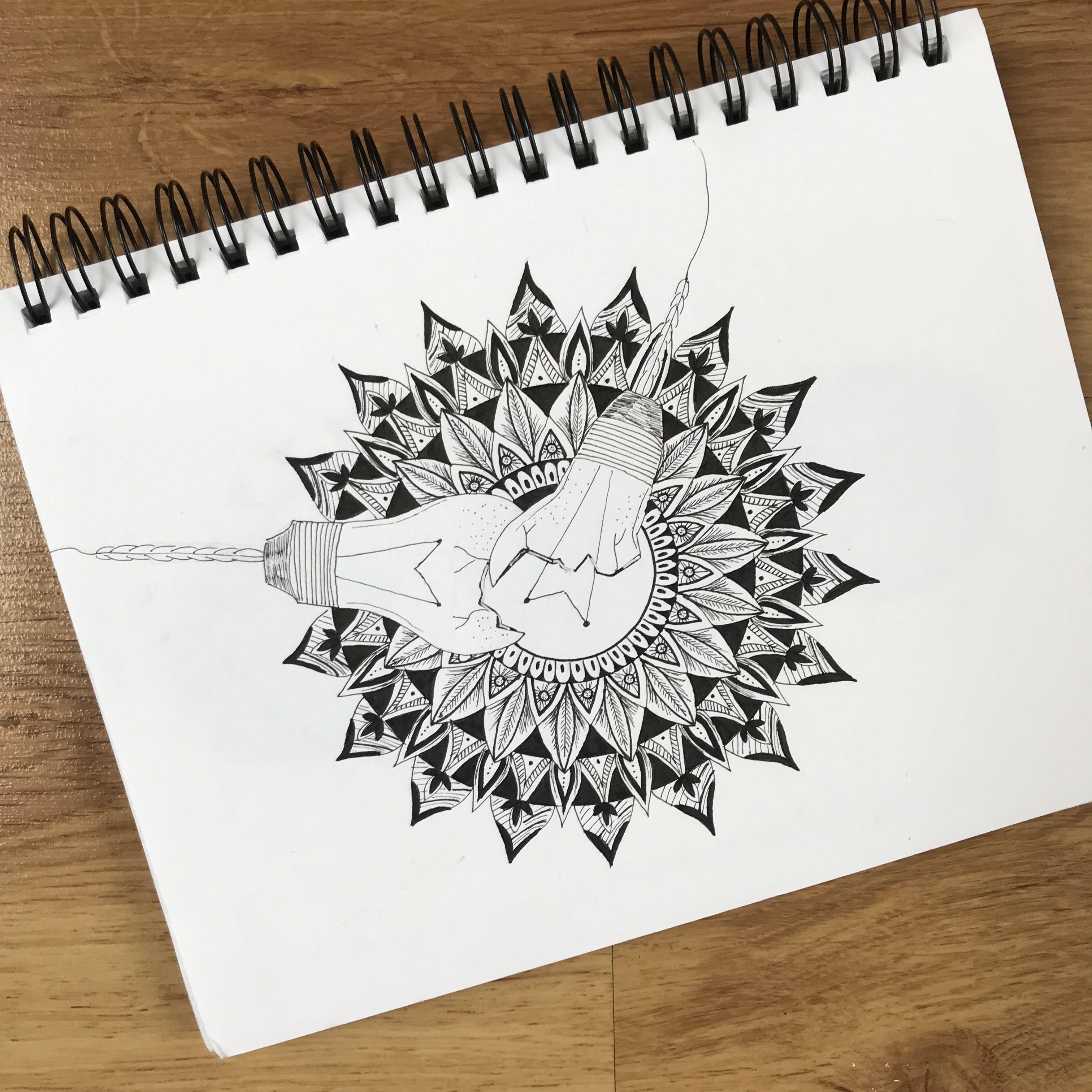 Light Bulb Mandala In 2020 Mandala Ghost Light Light Bulb Drawing
