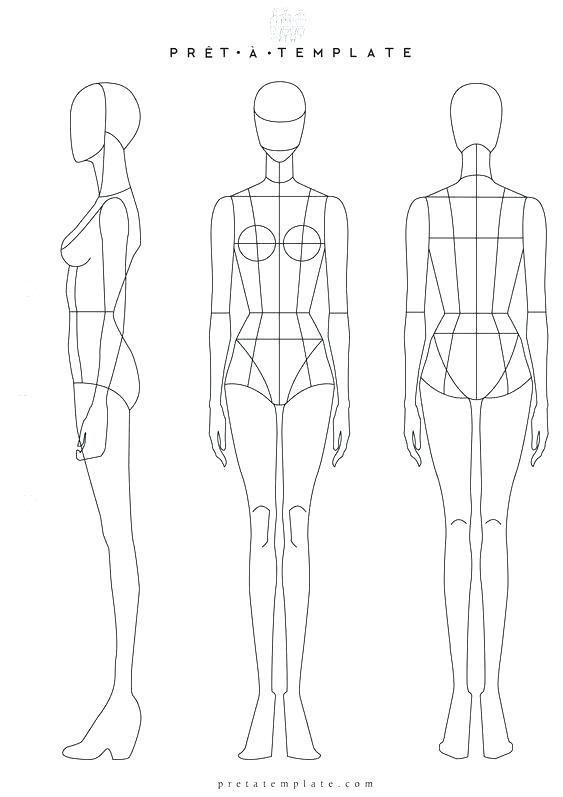 Weibliche Mode Template Design Vorne Und Hinten Eine Andere Weibliche Form Fur Mode Design Andere Modedesign Skizzen Mode Design Vorlage Mode Zeichnen