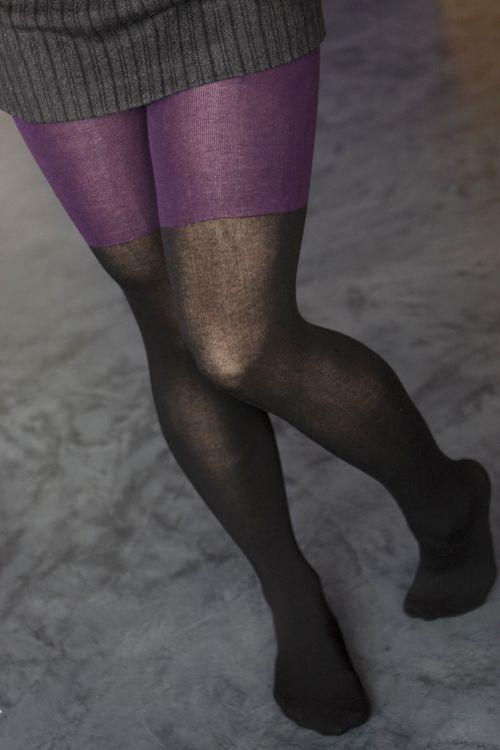 635d28e0423 Socks by Sock Dreams » .Socks » Tights » Split Tone Layered Tights ...