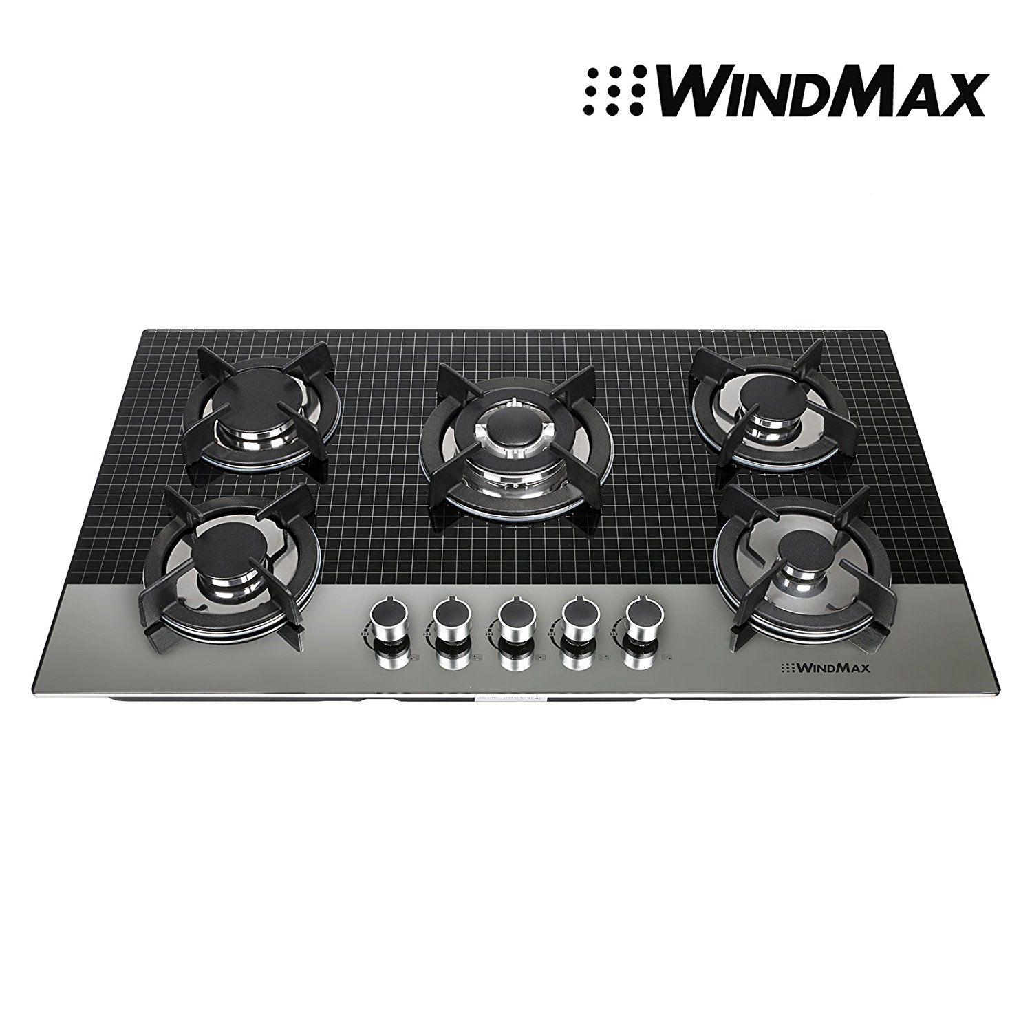 Appliances US Seller, Ship from CA,US METAWELL 23 Curve Stainless Steel 4 Burner Stove NG/LPG Hob Cooktops Cooker