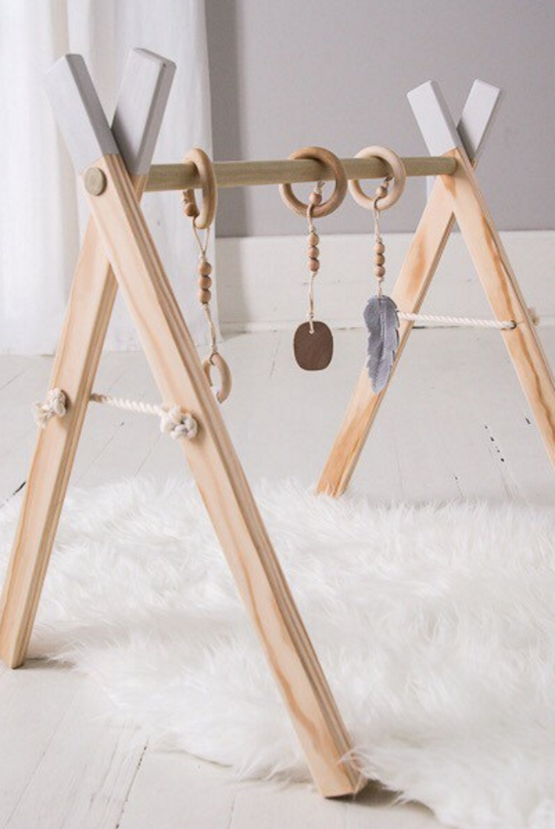 Wooden Baby Mobile Baby Play Gym With Mobile Accessories Cloverandbirch On Etsy