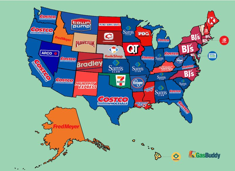 The Cheapest Gas Chains in Every US State Cheap gas