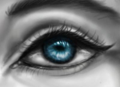 Blue Eye Drawing