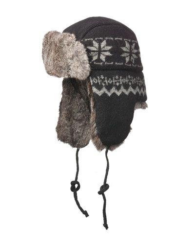 e001ea7b2d5 CROWN CAP SNOWFLAKE AVIATOR HAT.  crowncap