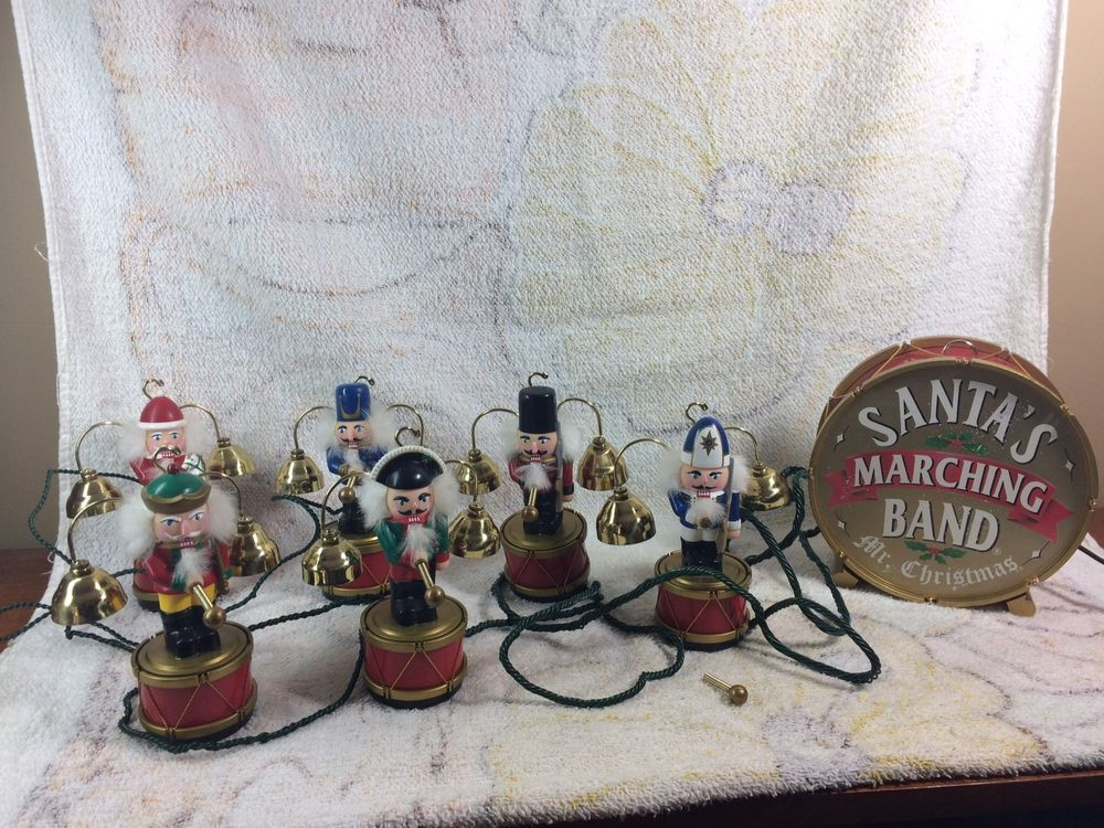mr christmas santas marching band nut crackers 6 players bells works ebay