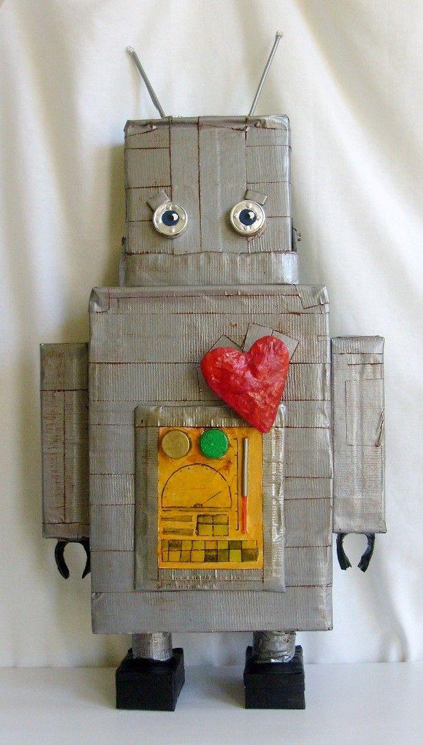 i heart Robot Pinata  - Custom Made. $70.00, via Etsy.