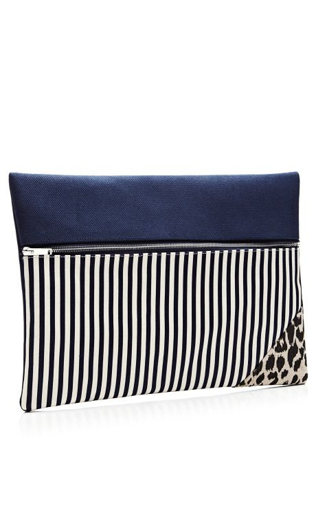 Striped and Printed Zip Clutch by Vanities - Moda Operandi  $230.00. !!!