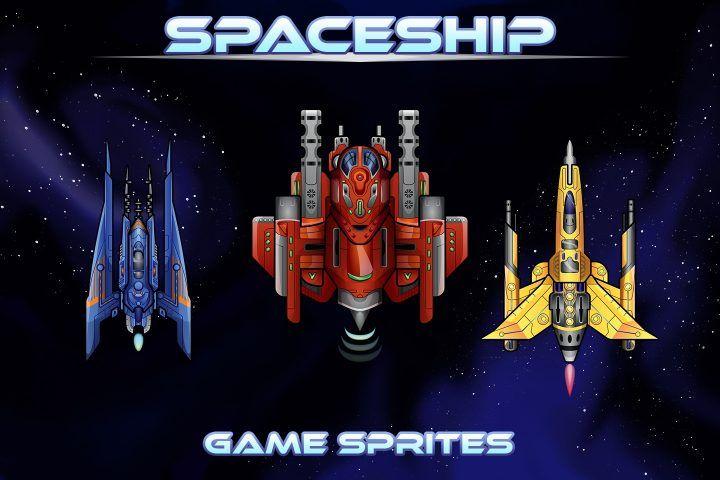 Spaceship 2D Game Sprites - CraftPix.net | Sprite ...