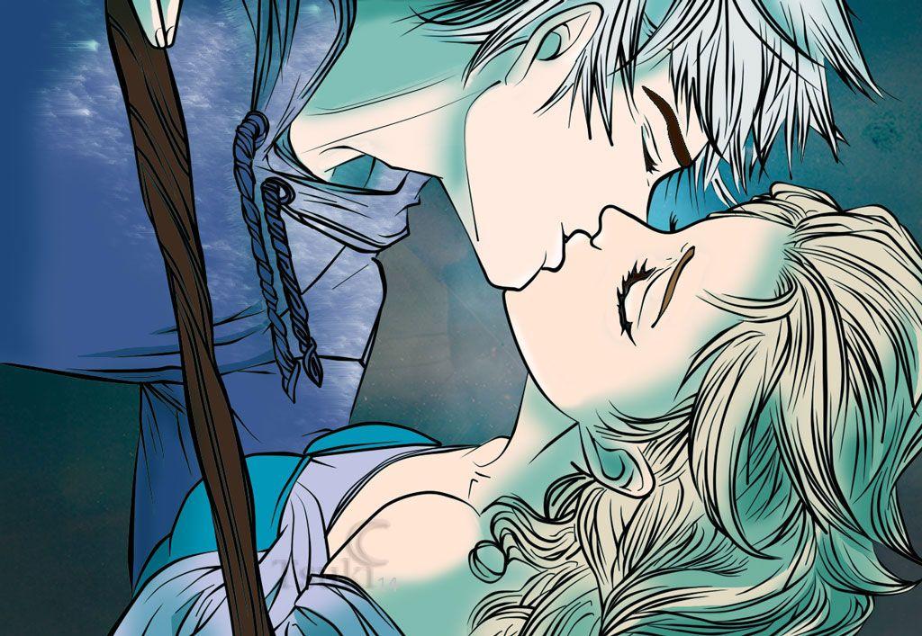 следят картинки эльза и джек целуются был нанесен профессионально