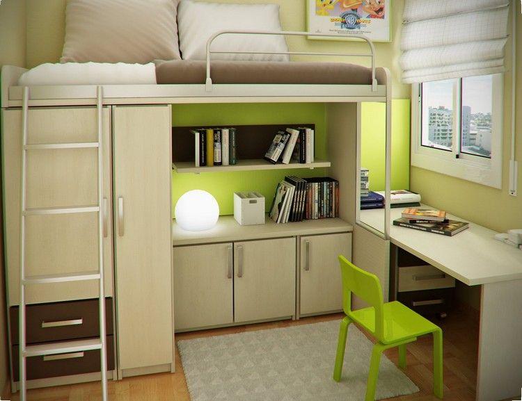 hochbett mit kleiderschrank und stauraum im kinderzimmer. Black Bedroom Furniture Sets. Home Design Ideas
