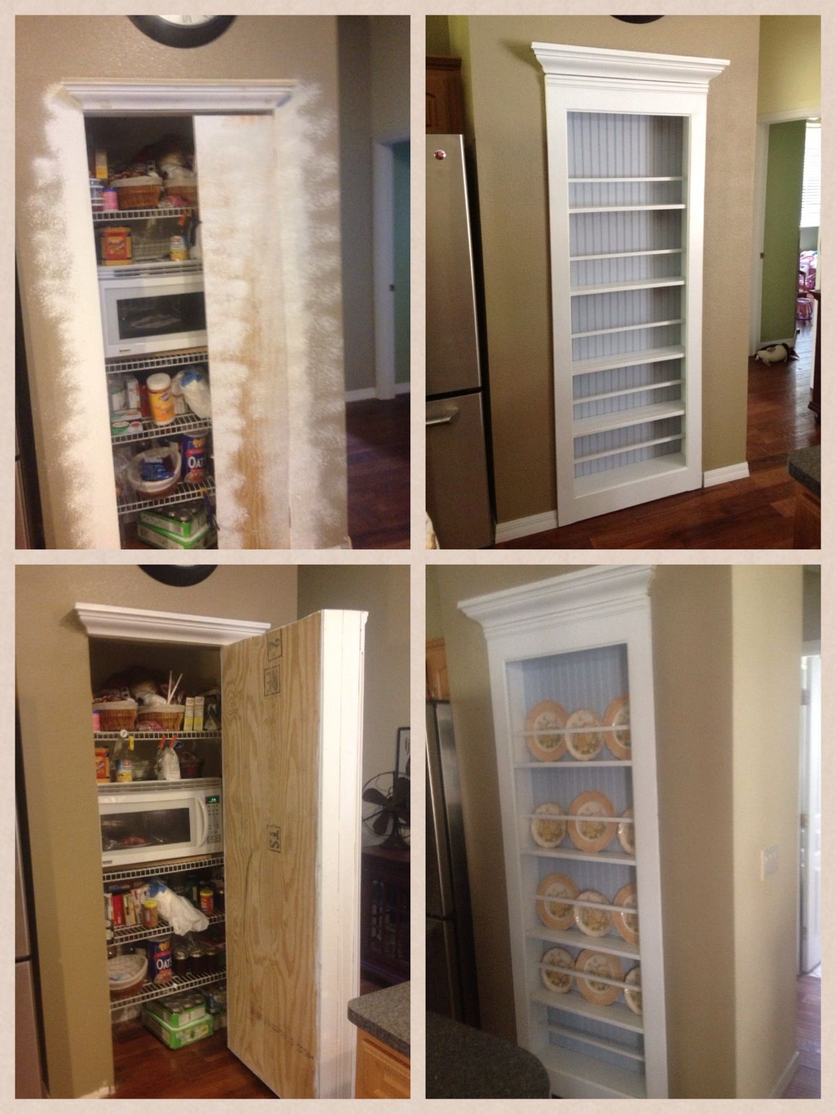 Secret pantry door. My new Plate rack/ Hidden Door. Perfect for hiding food & Secret pantry door. My new Plate rack/ Hidden Door. Perfect for ...