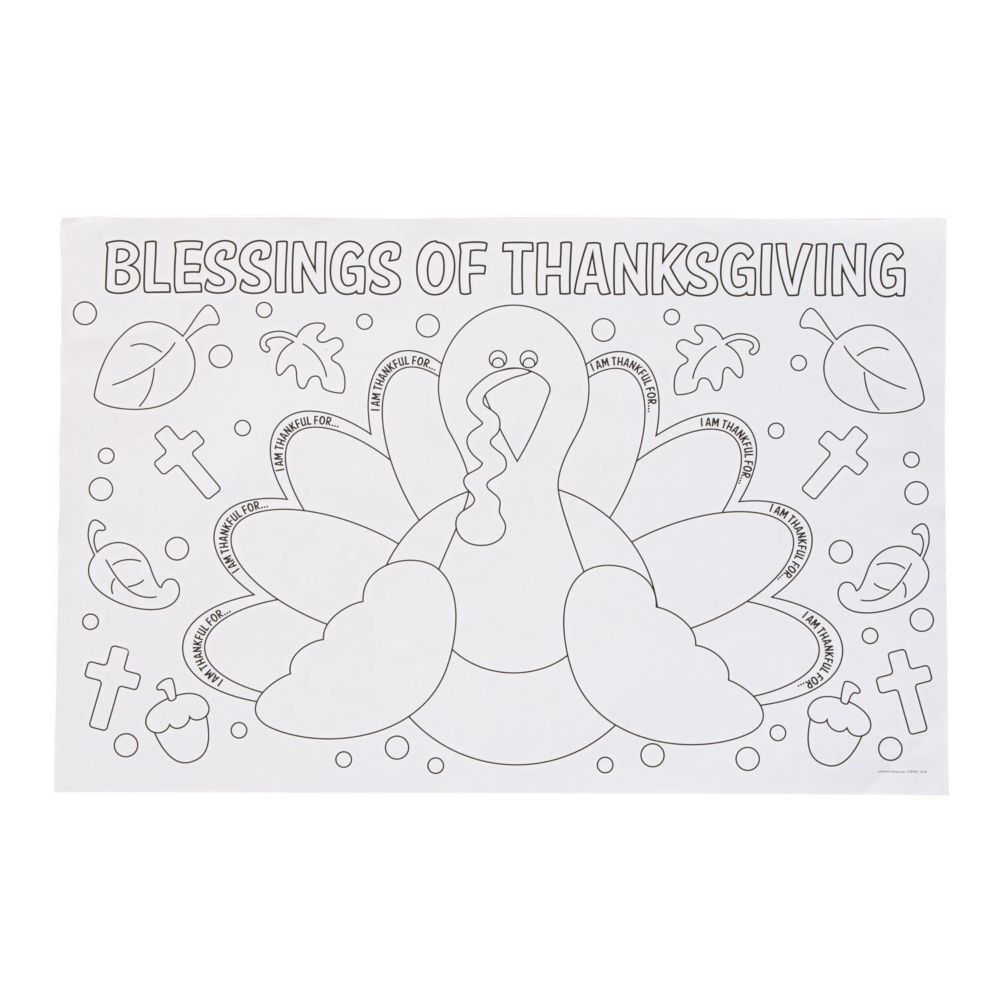 Color Your Own Thankful For Placemats Placemats Kids Placemats Sunday School Crafts