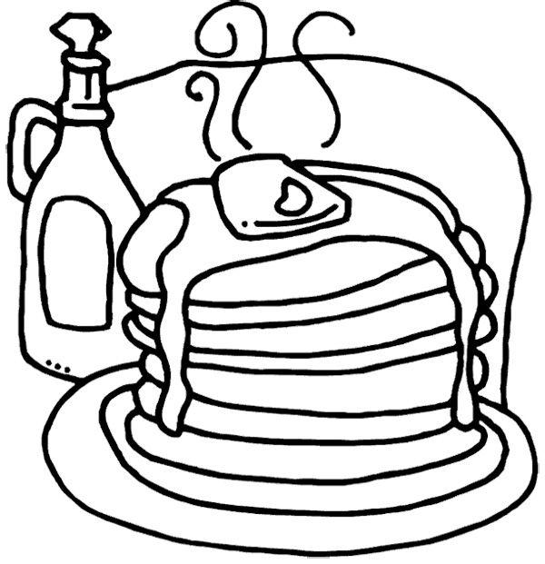 Pancakes Coloring Page  Pajama Party Birthday  Pinterest