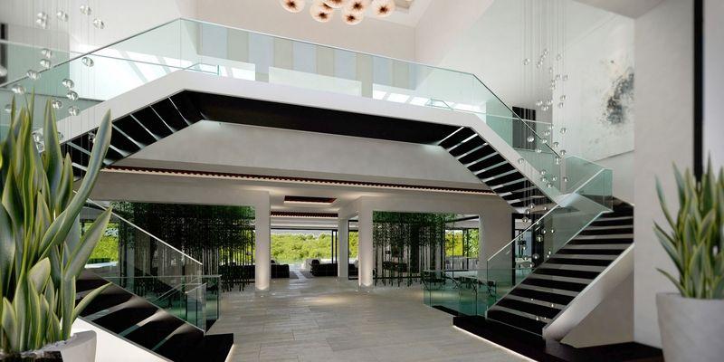 Amazing Double Escalier   Luxueuse Villa Par Ark Architects   San Roque, Espagne