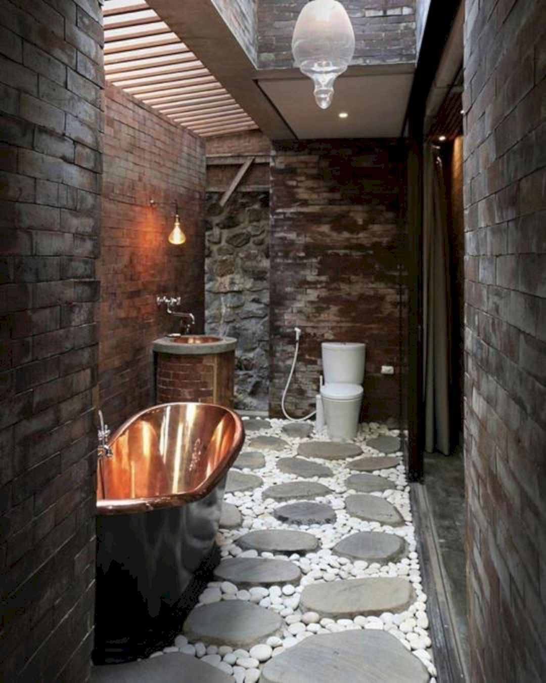 Charmant 45+ Amazing Rock Wall Bathroom You Need To Impersonate | Rock, Walls And  Thin Brick