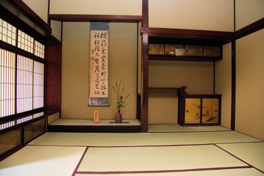 Architecture Image Traditional Classic Tatami Room Design Interior With Wooden Wall And Door With Pi Japanese Style House Japanese Interior Design Tatami Room