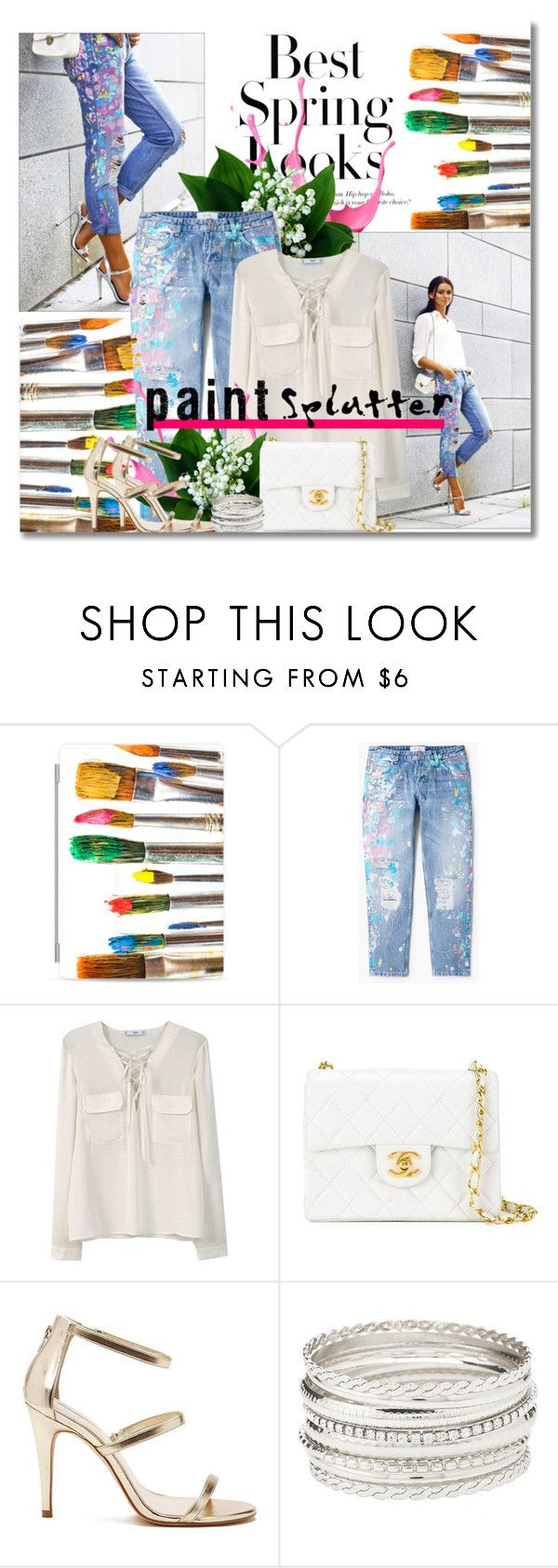 """Make a Splash With Paint Splatters"" by dora04 ❤ liked on Polyvore featuring H&M, Casetify, MANGO, Chanel, Forever 21, Charlotte Russe and paintsplatter"