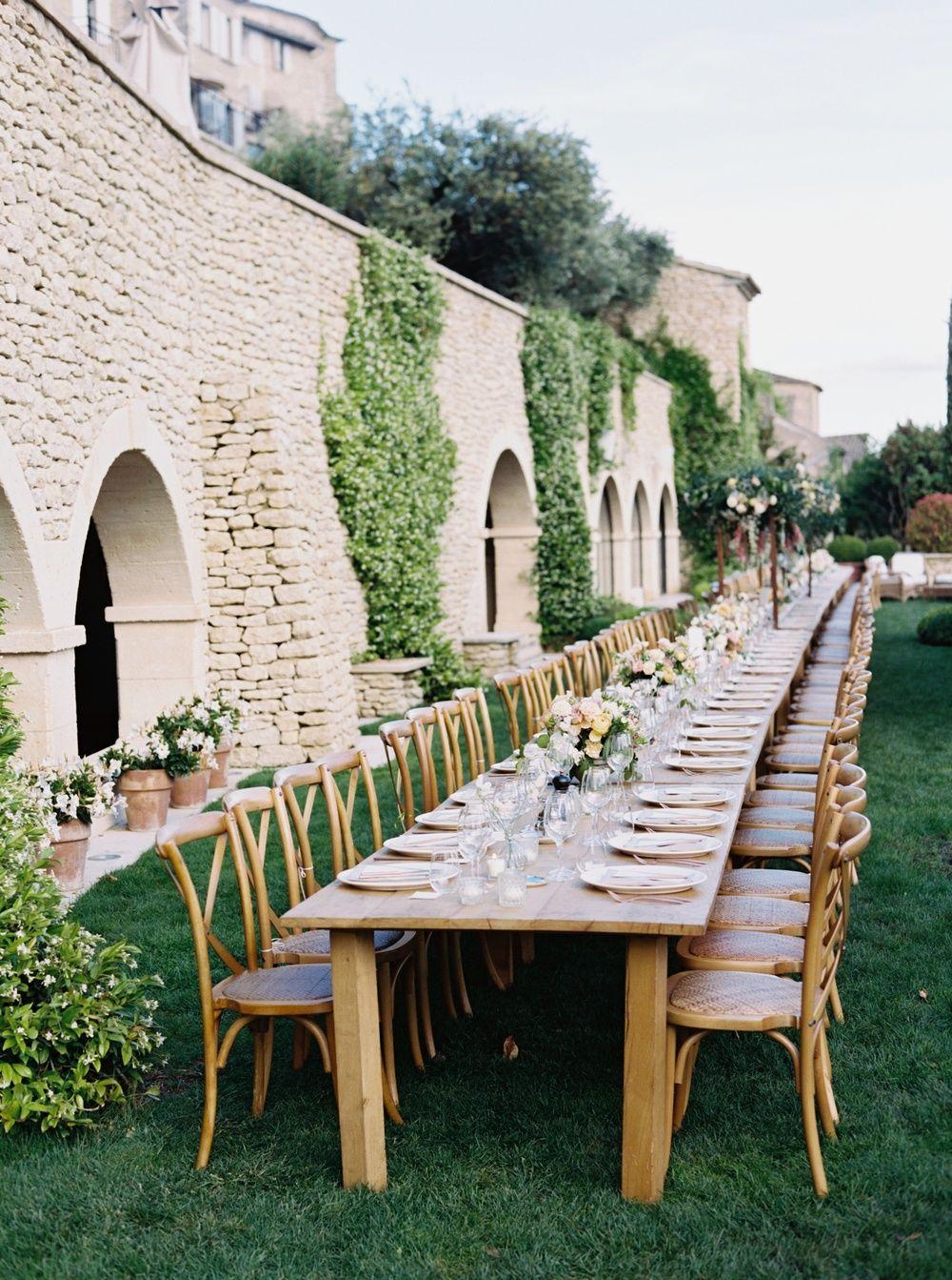 Idyllic Chateau Wedding In The South Of France Courtyard Wedding