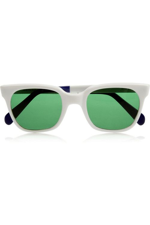 Sheriff and Cherry White and Green Sunglasses - Wantering