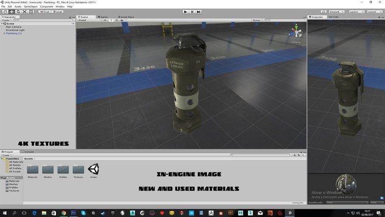 Flashbang Stun grenade StunFlashbangPropsgrenade