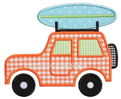 Beach Jeep Applique Design Transportation Pinterest