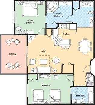 Wyndham Bonnet Creek Resort Two Bedroom Floor Plan Bonnet Creek Bonnet Creek Orlando Wyndham Bonnet Creek