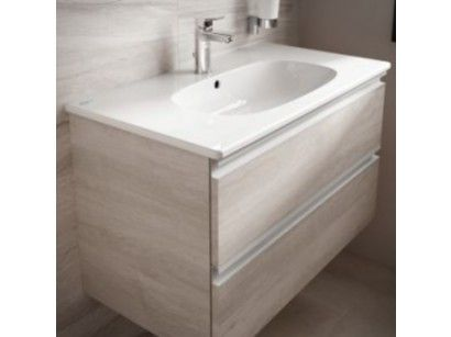 Ideal Standard Tesi Baza Lavoar 100 Cm 2 Sertare Lemn Deschis