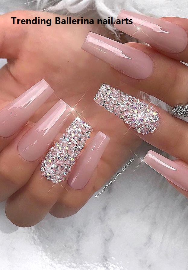 Ballerina Nails On Trend 1 In 2020 Ballerina Nails Designs Classy Acrylic Nails Long Nail Designs