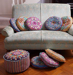 Bright Floor Cushions And Pouffe By Roberto Bianchini