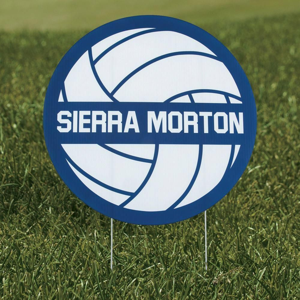 Personalized Volleyball Yard Sign Sportsbasketball In 2020 Volleyball Yard Signs Volleyball Signs