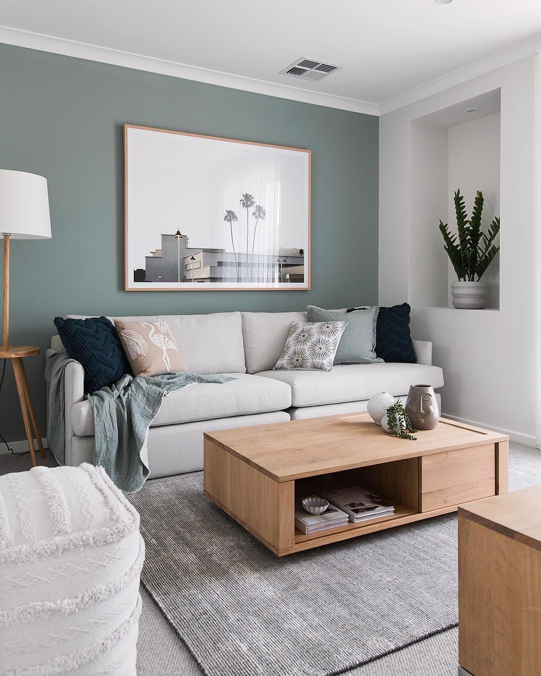 Who Else Is Absolutely In Love With This Feature Wall Colour I Legit Have An En Living Room Color Schemes Popular Living Room Colors Feature Wall Living Room #popular #living #room #wall #colors