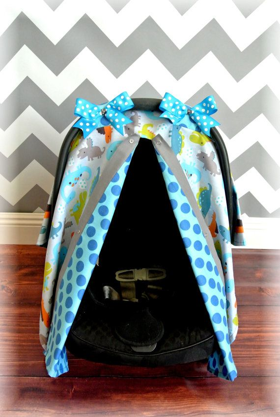 DINOSAUR car seat cover canopy infant car seat by JaydenandOlivia ...