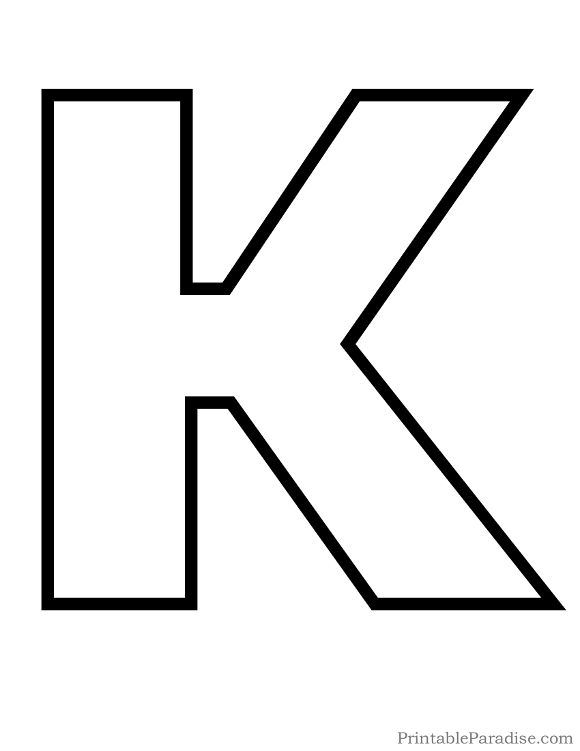 image relating to Letter K Printable titled Printable Letter K Determine - Print Bubble Letter K abc