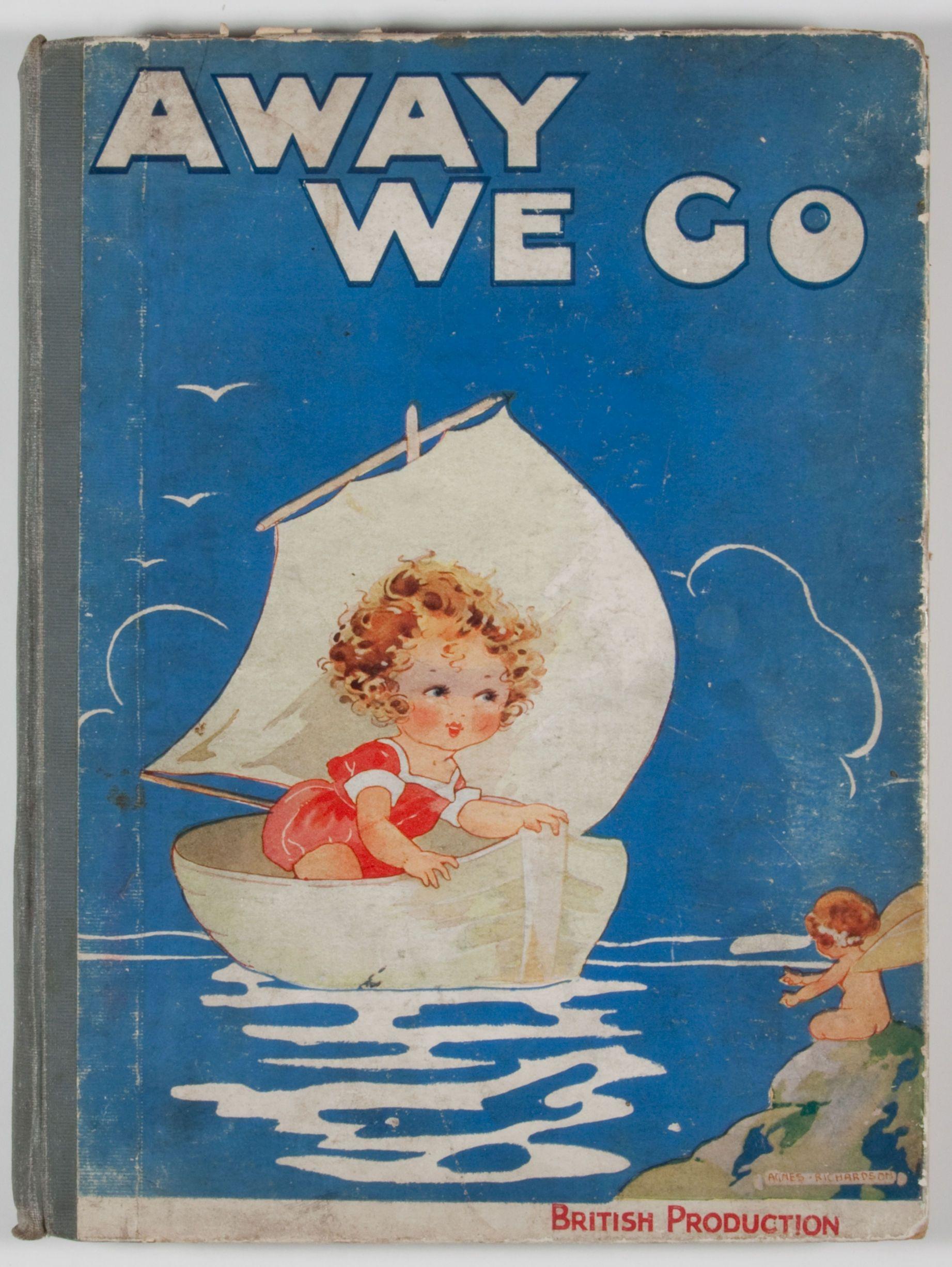 Vintage Children S Book Cover : Vintage book cover illus agnes richardson