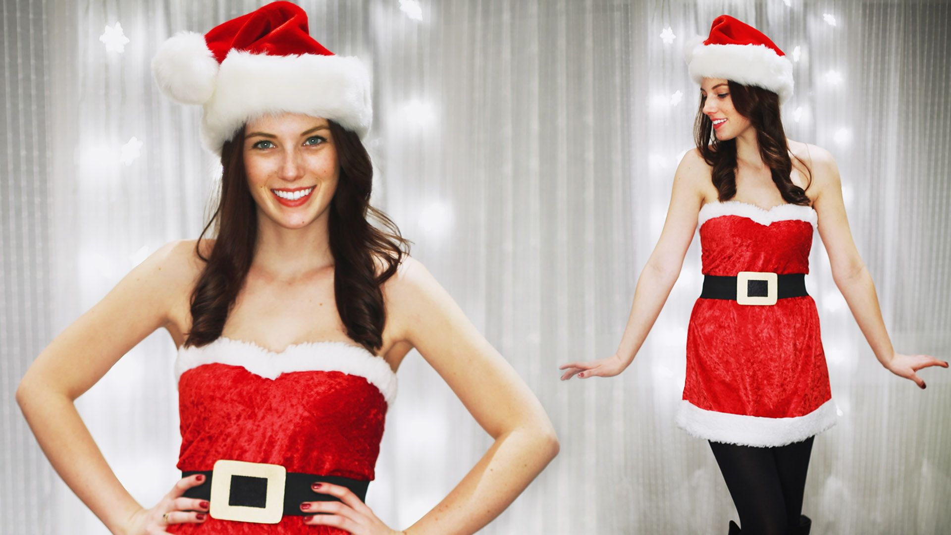 Diy girly santa claus mrs costume perfect for any