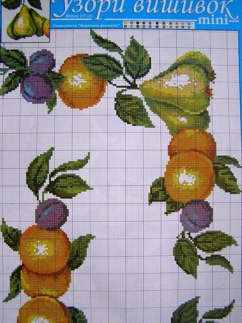 Cross stitch ukrainian embroidery pattern tablecloth napkin